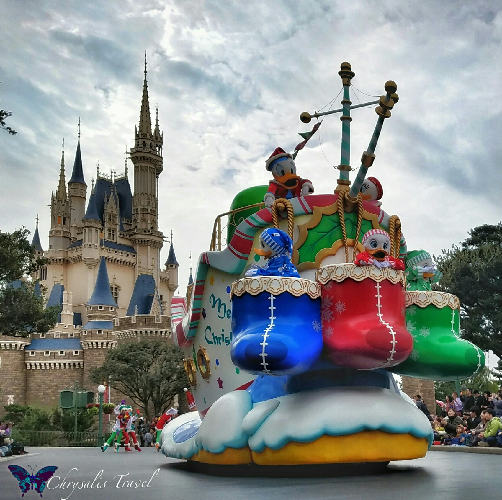 The First Float Features Donald, Daisy, Huey, Dewey, And Louie