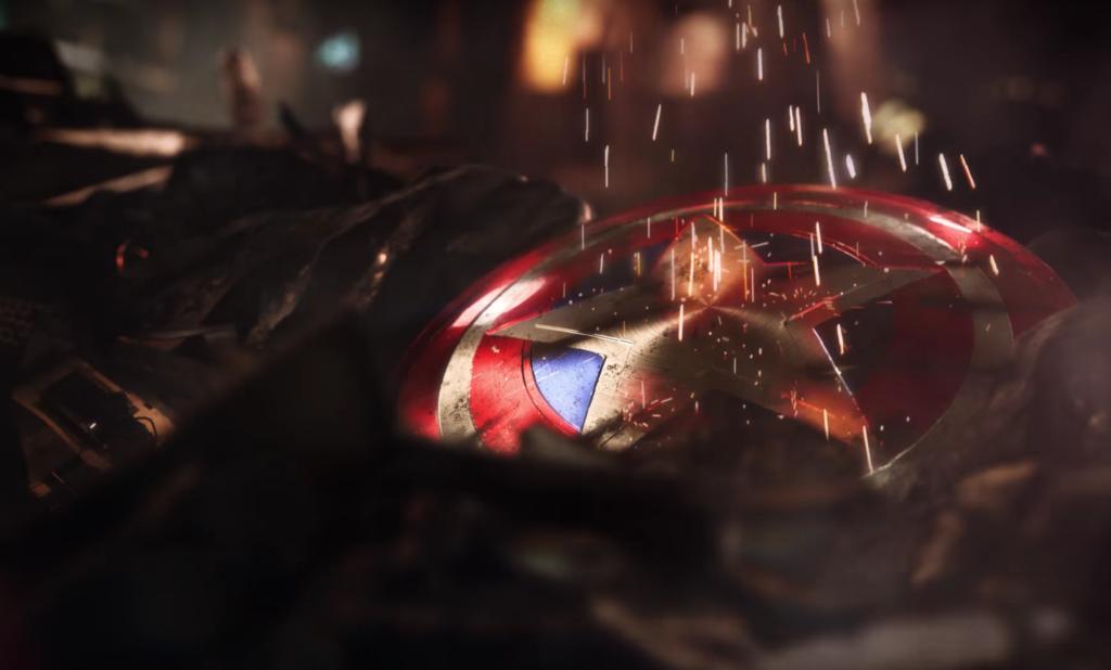 Captain America's battered shield
