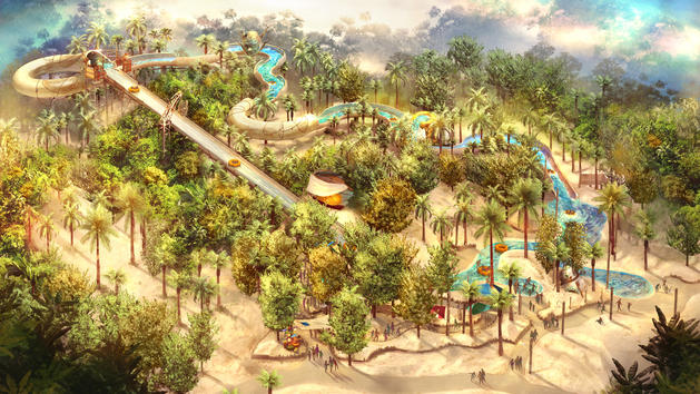Typhoon Lagoon's New Raft Ride Concept Art and New Name