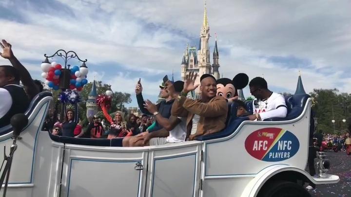 Pro Bowl Parade Celebrated at Magic Kingdom