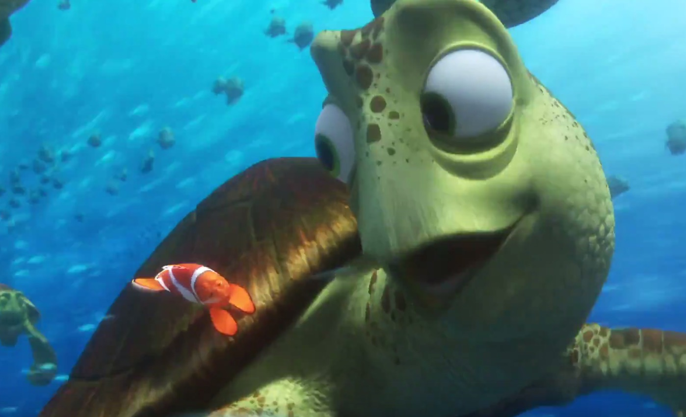 Watch: Crush the Sea Turtle Assists with Disneyland Proposal