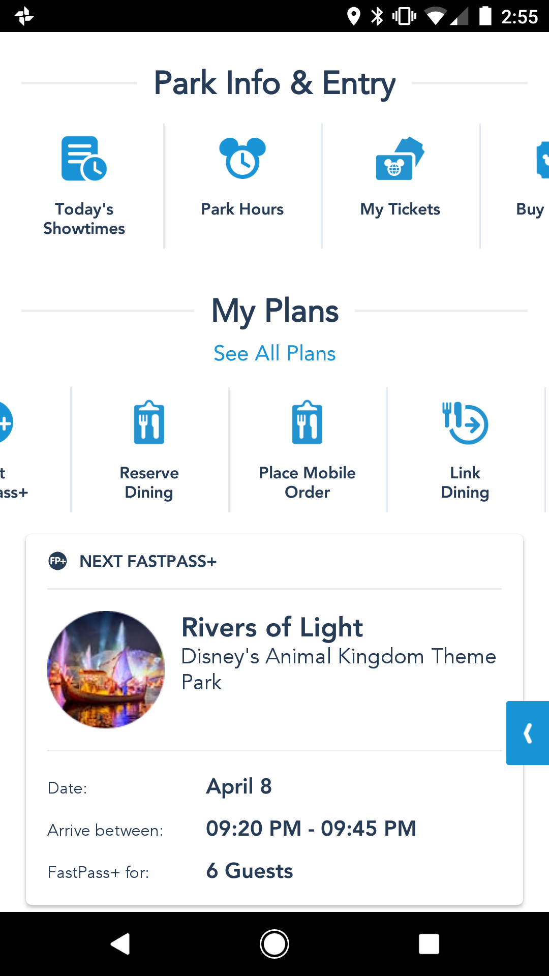 My Disney Experience Prepares for Mobile Ordering