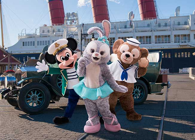 Stella Lou with Mickey and Duffy