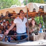 "Dwayne ""The Rock"" Johnson Commandeers Jungle Cruise Boat"