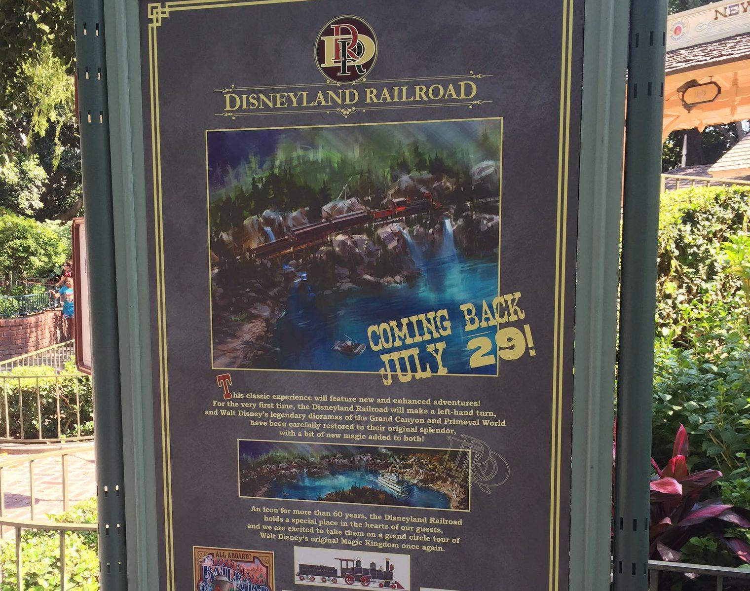 Disneyland Prepares for Return of Fan-Favorite Attractions, Railroad Begins Test Cycles