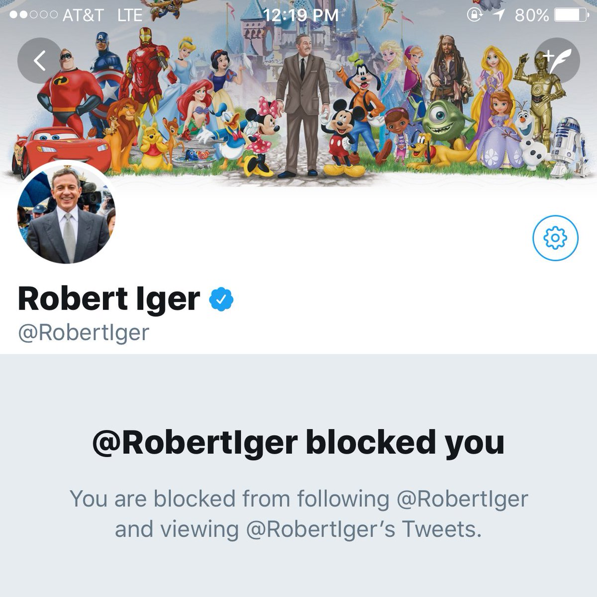 Bob Iger Blocks Financial Analyst on Twitter