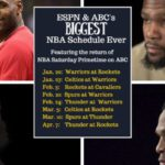 NBA Schedule for ESPN and ABC Announced