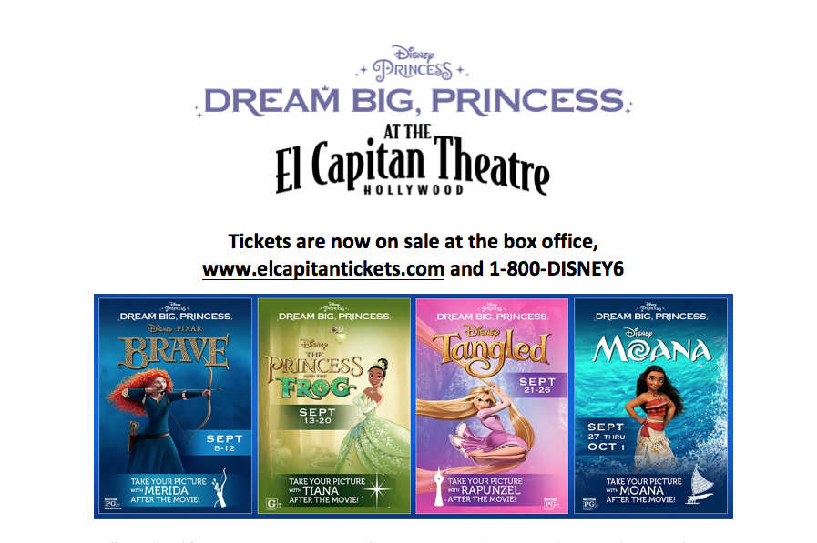Dream Big, Princess Film Festival at the El Capitan Theatre