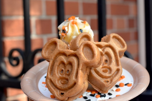 Pumpkin Mickey Waffle