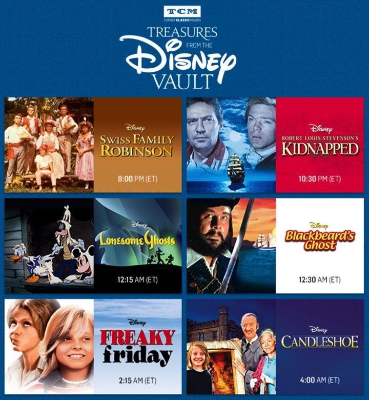 TCM's Treasures from the Disney Vault: September 2017