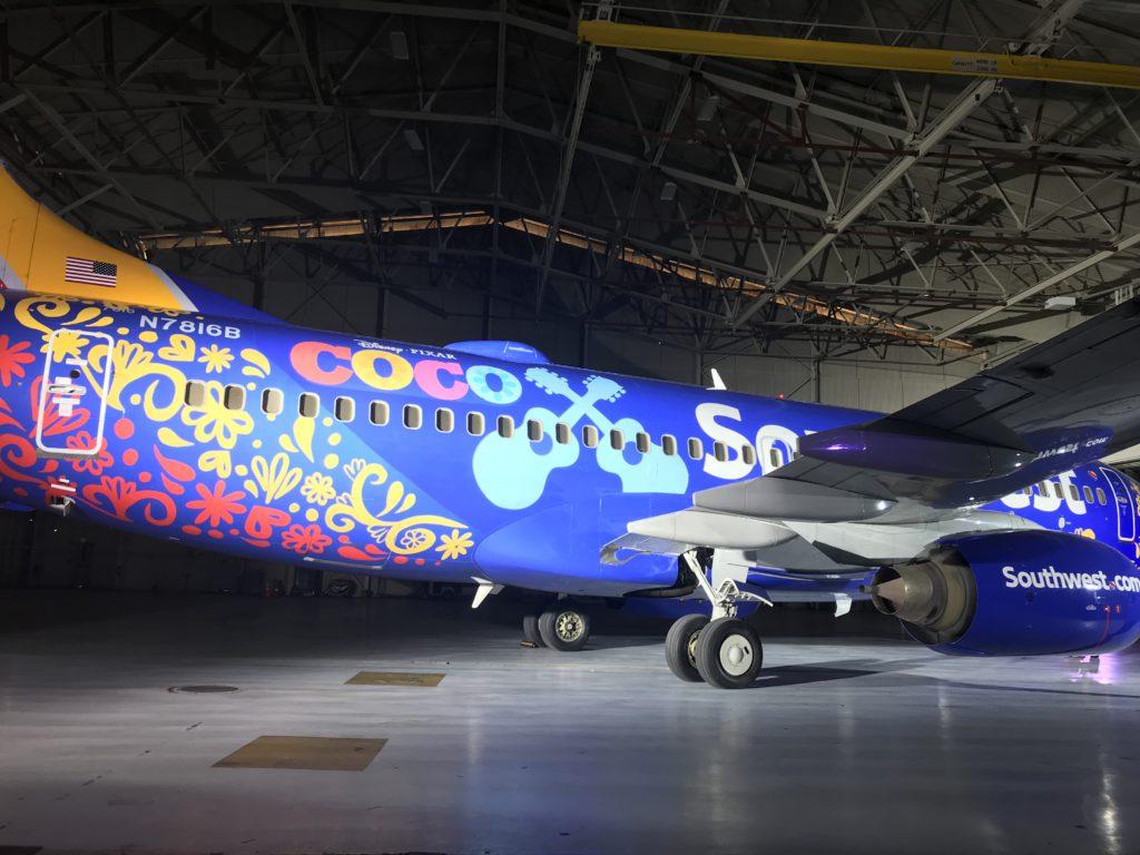"Southwest Debuts ""Coco"" Plane Symbolizing Connecting"