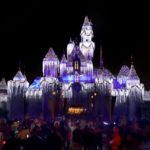 Sleeping Beauty Castle Transformed for Holidays