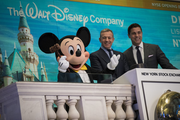 Bob Iger and Mickey Ring Opening Bell