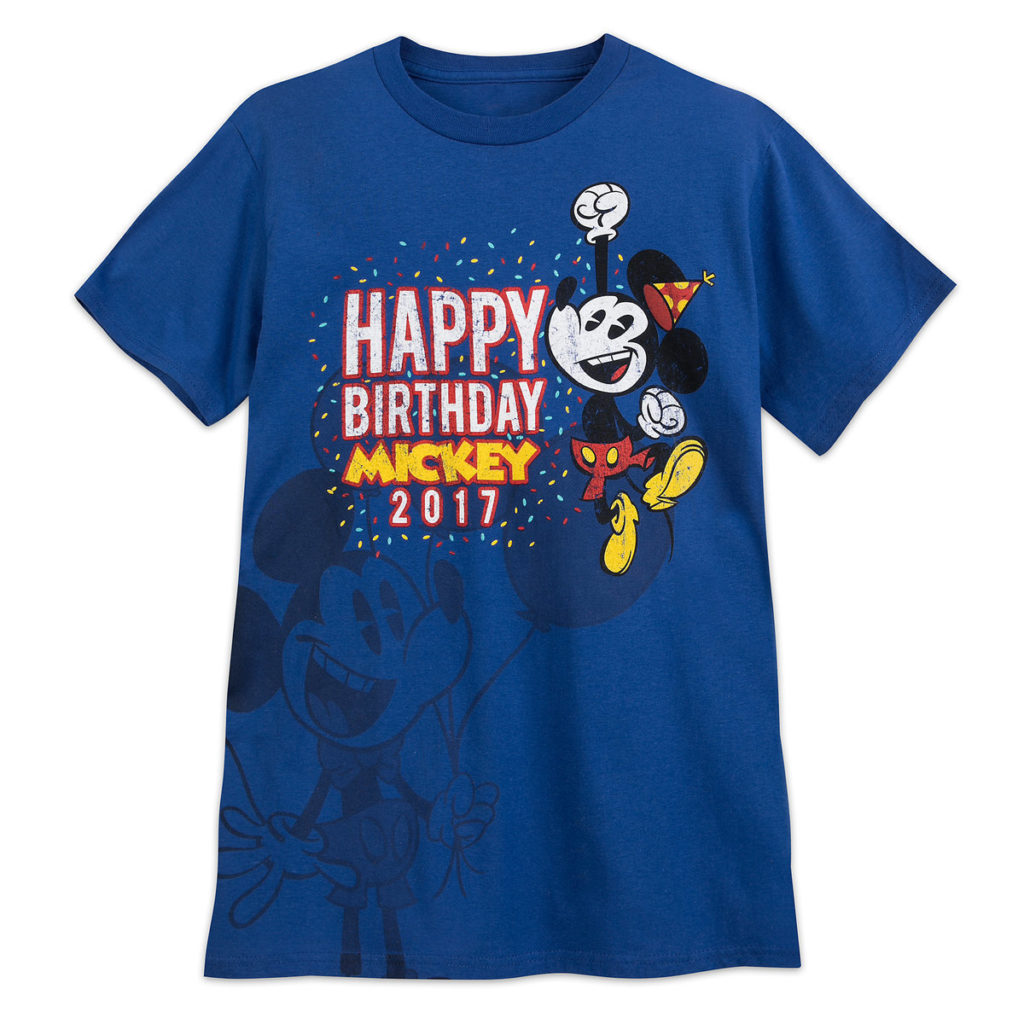 Happy Birthday Mickey T Shirt For Adults