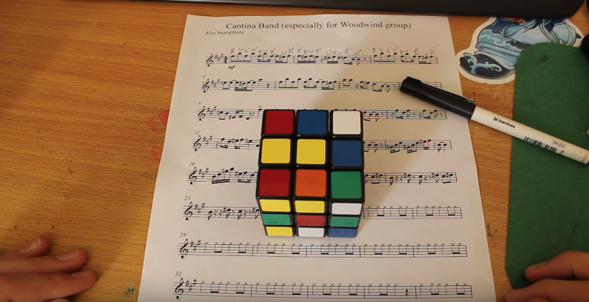 "People are Playing the ""Cantina Band"" Theme from Star Wars with Pencils and Rubik's Cubes"