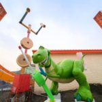 Rex and Trixie Arrive at Shanghai Disneyland's Toy Story Land