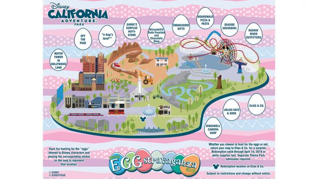 Disneyland Locations World Map.Egg Stravaganza Scavenger Hunts Returning To Disneyland Resort March