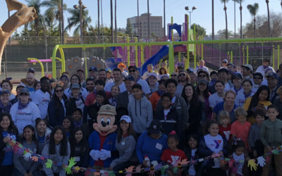 Disneyland VoluntEARS Build 10th Anaheim Playground at Pearson Park