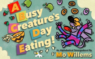 Children's Book Review: A Busy Creature's Day Eating by Mo Willems