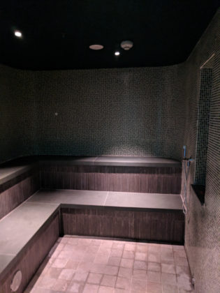 Inside the Aromatic Steam Room