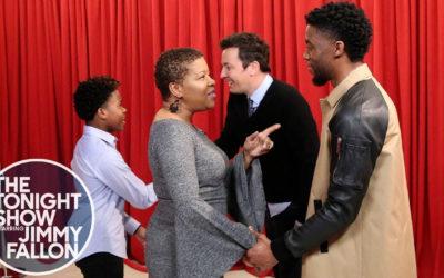 "Chadwick Boseman Surprises Appreciative ""Black Panther"" Fans on The Tonight Show"