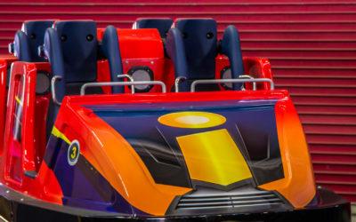 Incredicoaster ride vehicle