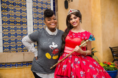 Yvette Nicole Brown with Elena of Avalor