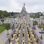 Yoga Mats Line Main Street as Disneyland Paris Celebrates International Yoga Day