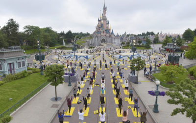 Yoga Mats Line Main Street as Disneyland Paris Celebrates International Yoga Day