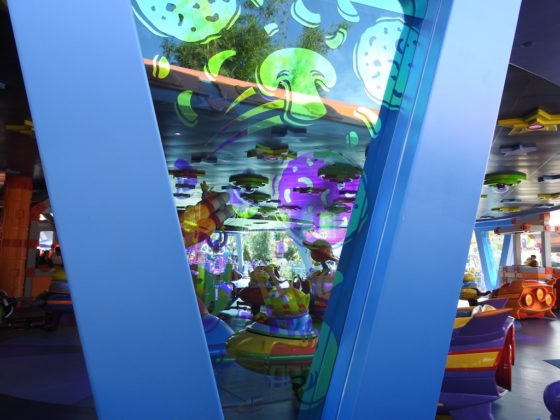 Alien Swirling Saucers