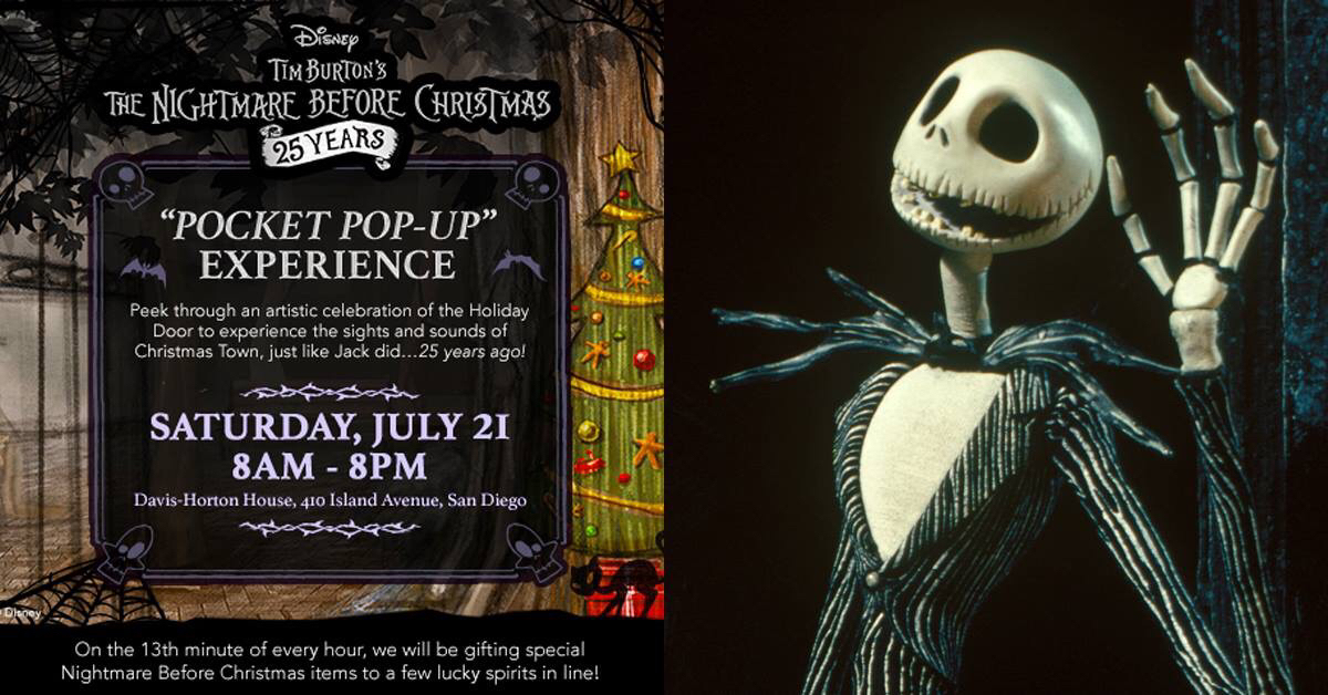 case in point today disney is celebrating the 25th anniversary of the nightmare before christmas with a special pop up experience - A Nightmare Before Christmas