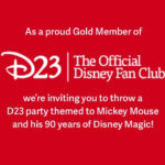D23 Invites Gold Members to Throw D23 Parties in September