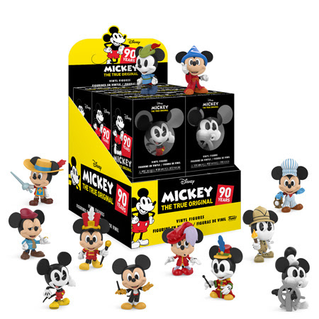 Funko Previews Mickey Mouse 90th Pop Figures Keychains