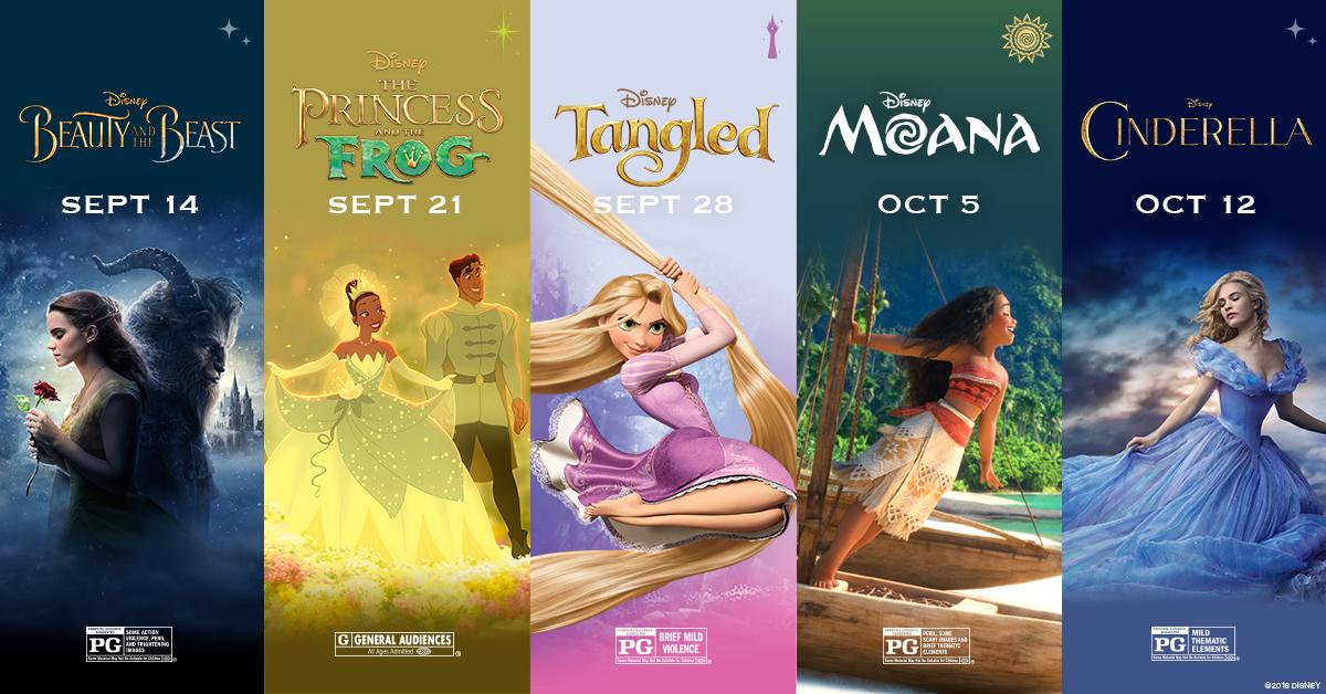 5 Disney Princess Films are Returning to AMC Theatres this ...