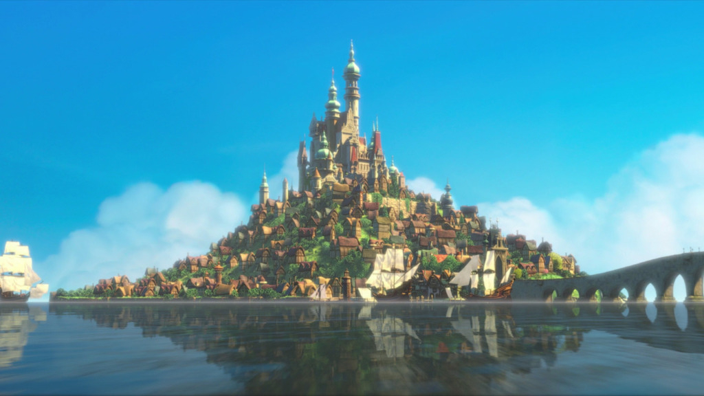 Tangled takes place in what fictional kingdom?