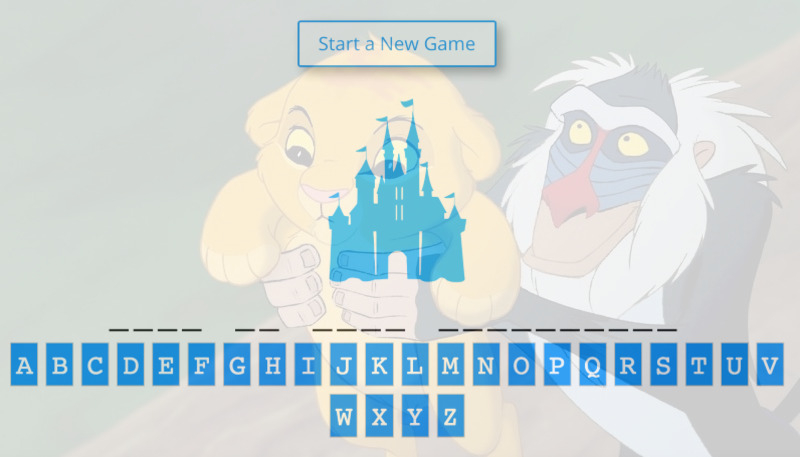 Disney Games - Hangman and Quizzes Online - LaughingPlace com