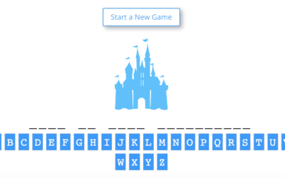 Disney Hangman - The Word Game - Disneyland, Walt Disney World, Disney Movies