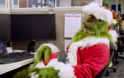 The Grinch Stops by Universal Orlando's Call Center to Help Out for the Holidays