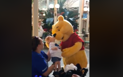Winnie the Pooh Shares Sweet Moment With a Disabled Child at Walt Disney World