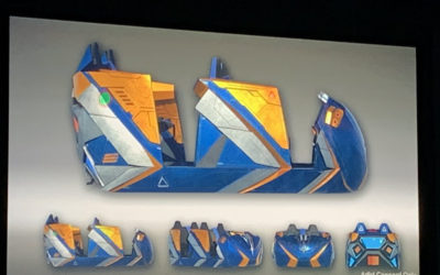 Bob Chapek Gives First Look at Guardians of the Galaxy Coaster Ride Vehicles at IAAPA