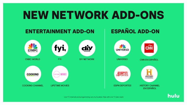 Hulu Launches Espanol And Entertainment Add Ons For Live Tv Subscribers