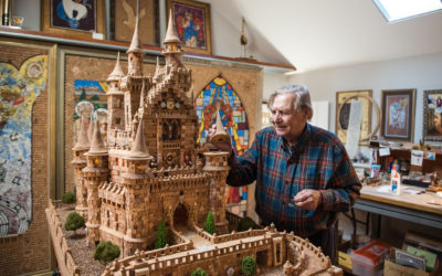 90-Year-Old Disney Fan Creates Cinderella Castle Sculpture Out of Corks