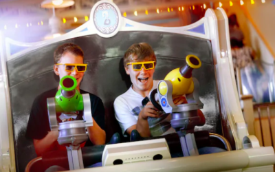 "Disney California Adventure Testing ""Moving Buddy"" Line for Toy Story Midway Mania"