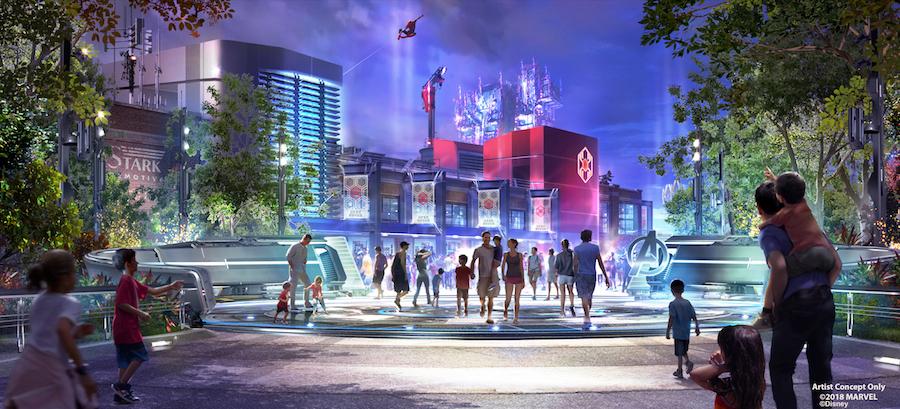 New Concept Art For Marvel Themed Lands At Disney Parks Released