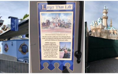 Astro Orbitor, Sleeping Beauty Castle Refurbishments Underway