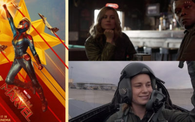 "Marvel Shares Exclusive Look at ""Captain Marvel"" During College Football Playoff Game"