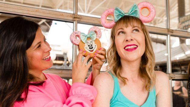 Minnie Donut Ear headband and matching Minnie cookie