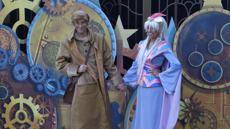 Milo and Kida greeting guests at the 2018 FanDaze event at Walt Disney Studios Park, Disneyland Paris