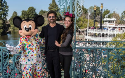 John Stamos and Wife Celebrate Anniversary at Disneyland