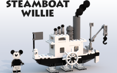 Steamboat Willie LEGO Set Selected as Winning Design for LEGO Ideas Contest